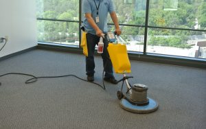 UBM Commercial Janitorial and Cleaning Services - Carpet Cleaning Bonnet Shampoo